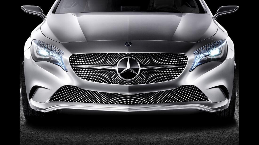 Mercedes Concept A, A-Klasse-Studie, Front, Kühlergrill, Scheinwerfer