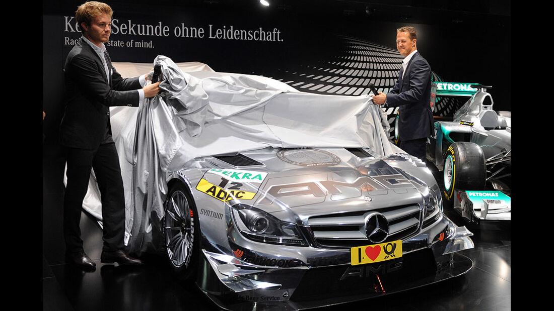 Mercedes DTM C-Coupé IAA 2011, Michael Schumacher, Nico Rosberg