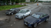 Mercedes E 200, BMW 520i, Skoda Superb VT, AMS1316