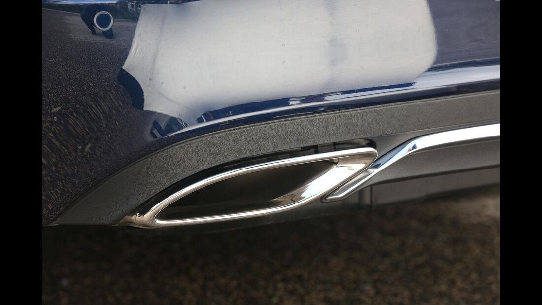 Mercedes E 200 CDI T, Auspuff