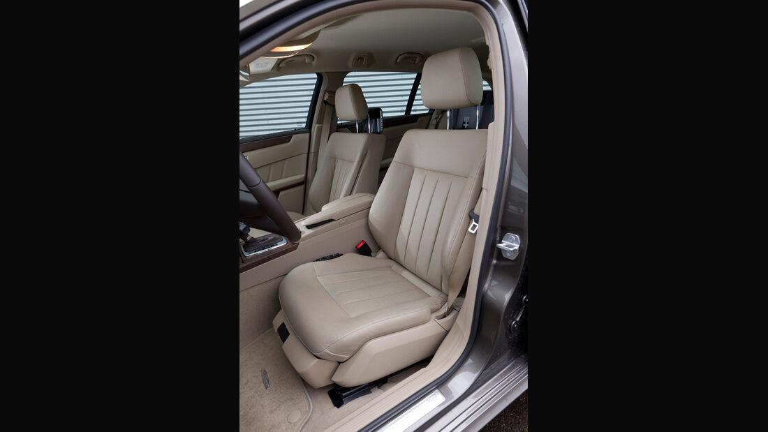 Mercedes E 200 CDI T Elegance, Fahrersitz, Ledersitz