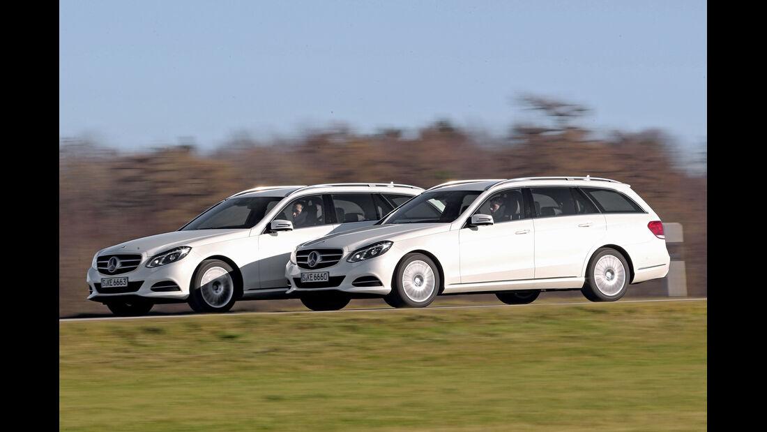 Mercedes E 200, Mercedes E 250, Seitenansicht