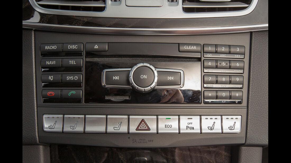 Mercedes E 200 T, Bedienelemente, Mittelkonsole