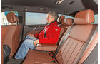 Mercedes E 200 T, Rücksitz, Beinfreiheit