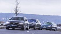 Mercedes E 200 T, Volvo V90, VW Passat Variant