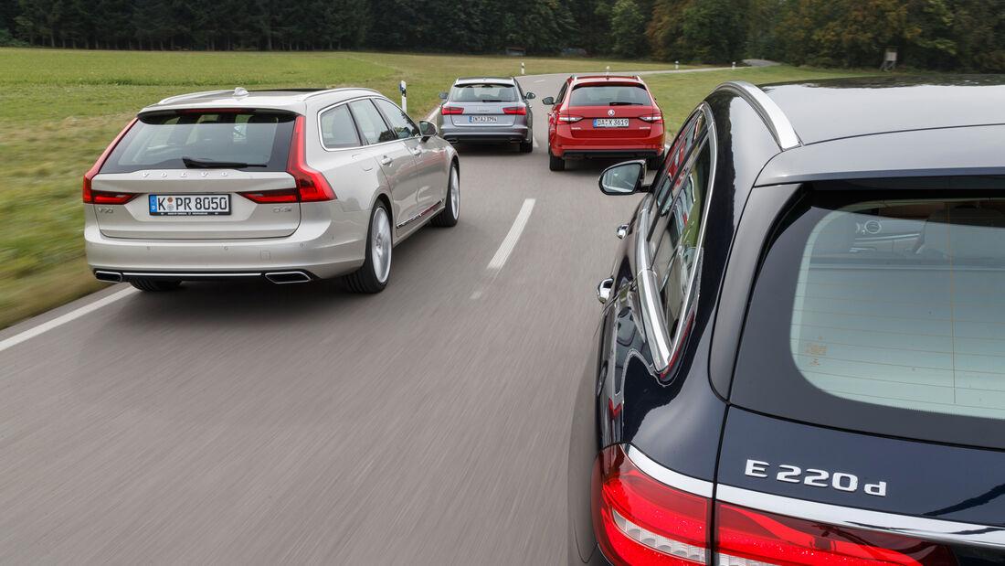 Mercedes E 220 d T, Skoda Superb Combi 2.0 TDI, Volvo V90 D4, Audi A6 Avant 2.0 TDI