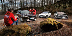Mercedes E 220 d, Volvo V90 CC, VW Passat Alltrack 2.0 TDI