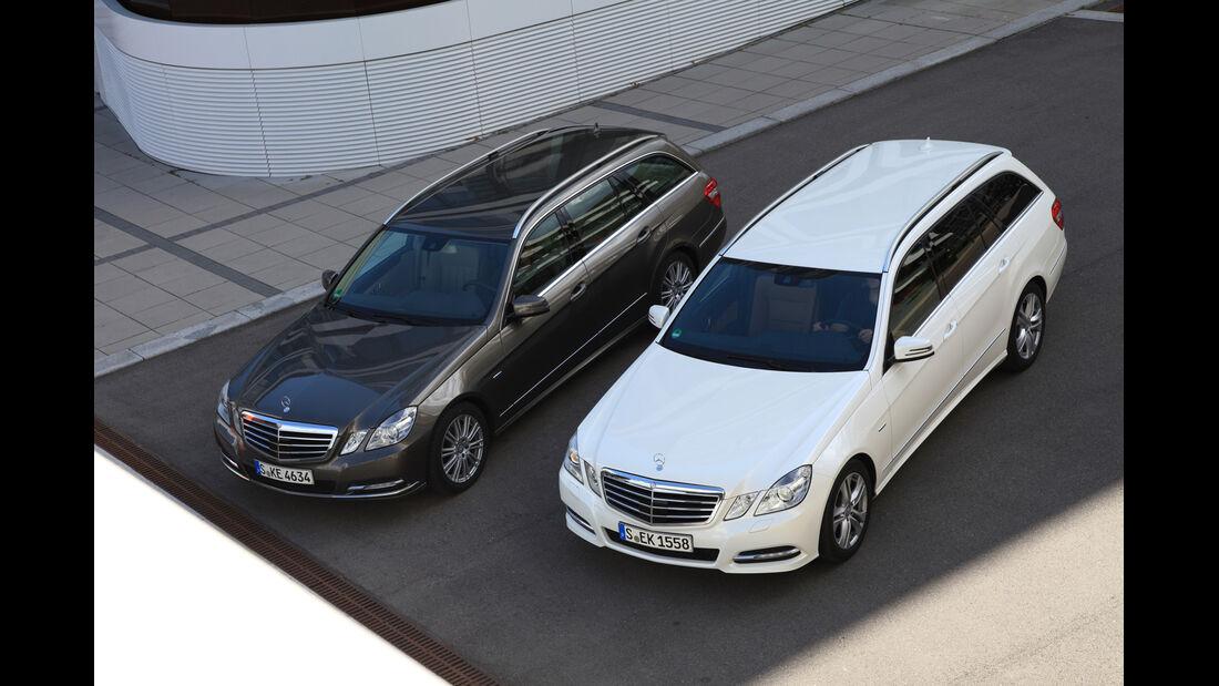 Mercedes E 300 T Bluetec Hybrid, Mercedes E 250 CDI T, von oben