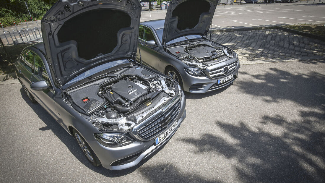Mercedes E 300 e, Mercedes E 300 de, Motoren