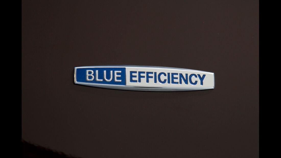 Mercedes E 350, Blue Efficiency, Schriftzug, Schild