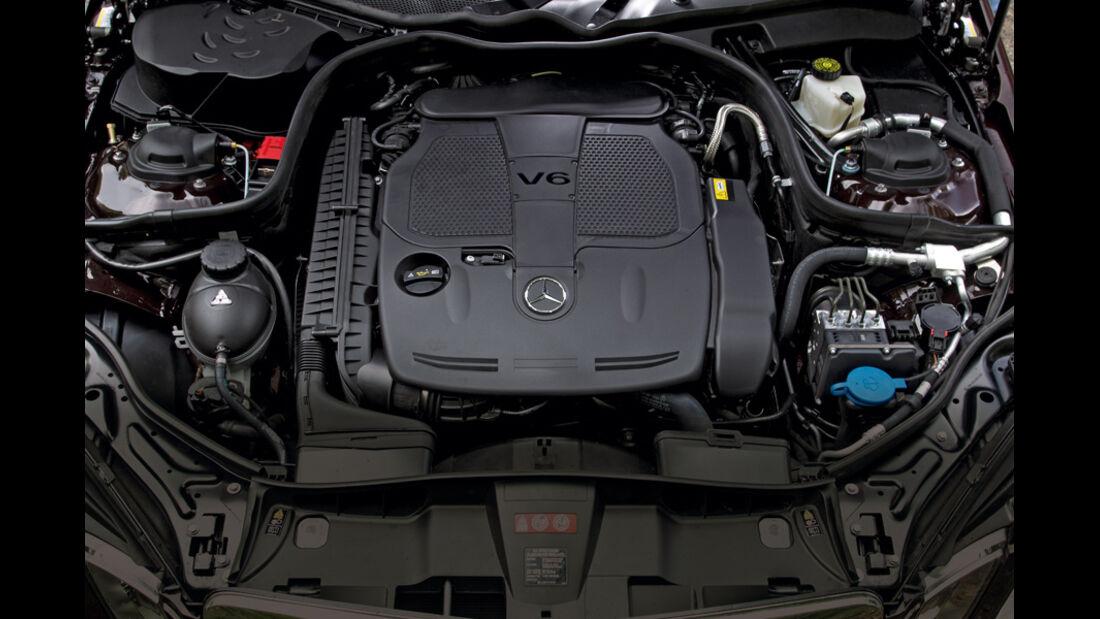 Mercedes E 350, Motor, Motorraum