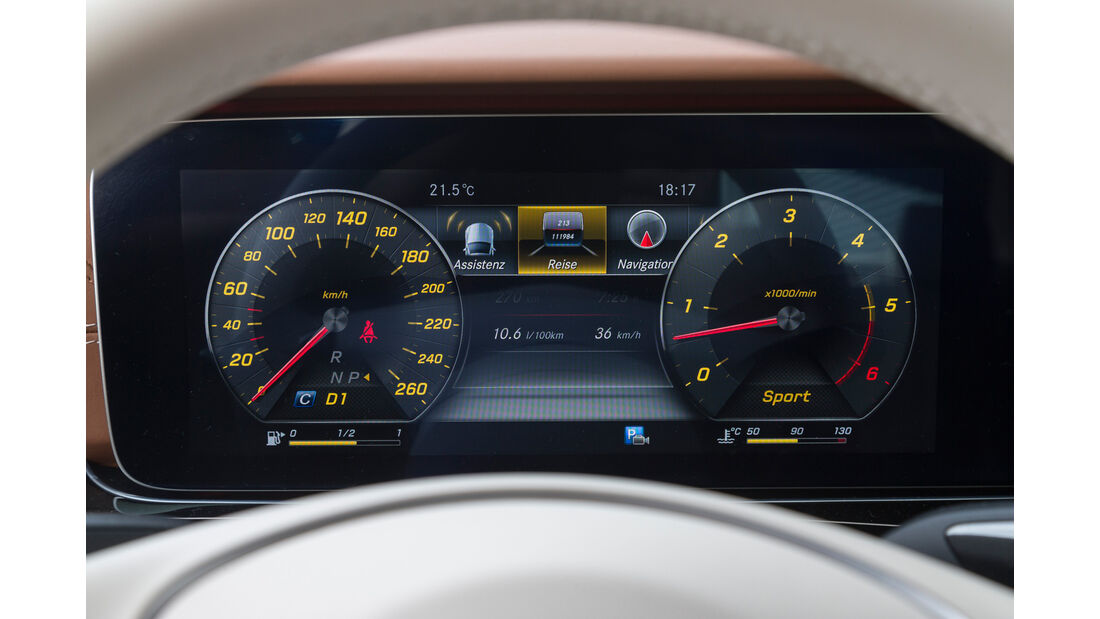 Mercedes E 350 d Exclusive, Rundinstrumente