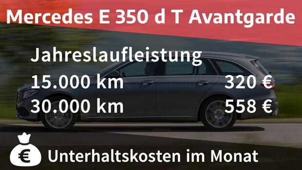 Mercedes E 350 d T Avantgarde Realverbrauch