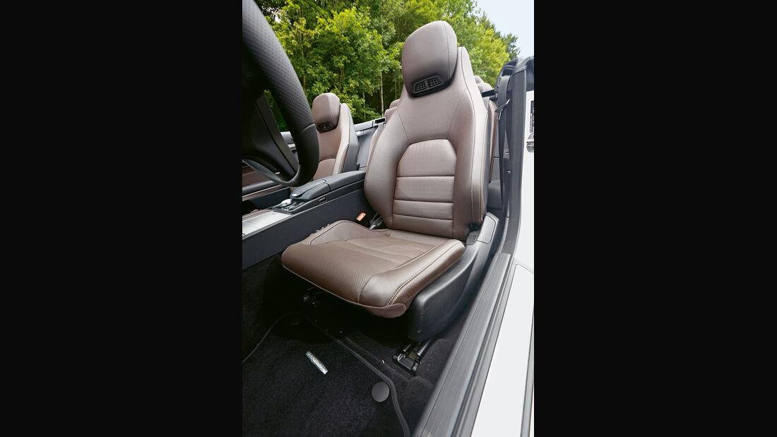 Mercedes E 400 Cabrio, Fahrersitz
