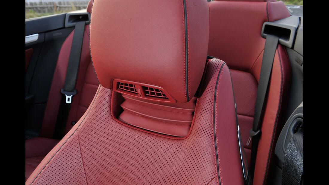Mercedes E 400 Cabrio, Kopfstütze, Nackenföhn