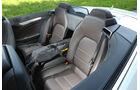 Mercedes E 400 Cabrio, Rücksitz, Skisack