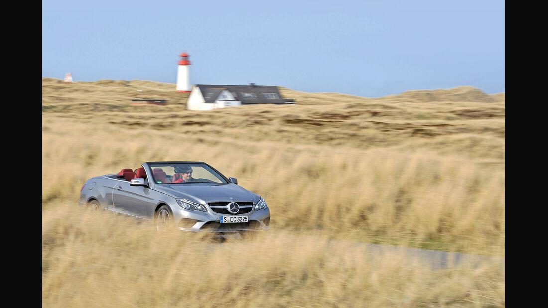 Mercedes E 400 Cabrio, Sylt, Frontansicht