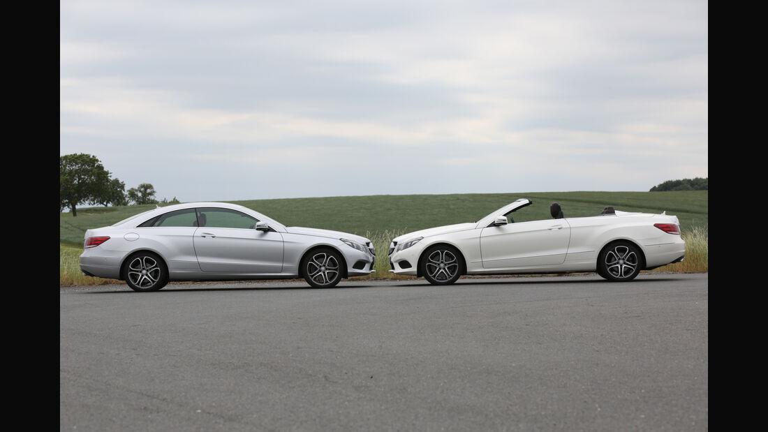 Mercedes E 400, Coupé, Cabrio, Vergleich