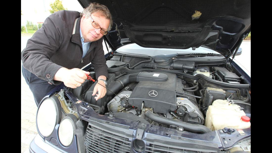 Mercedes E 420, Motor, Alf Cremers