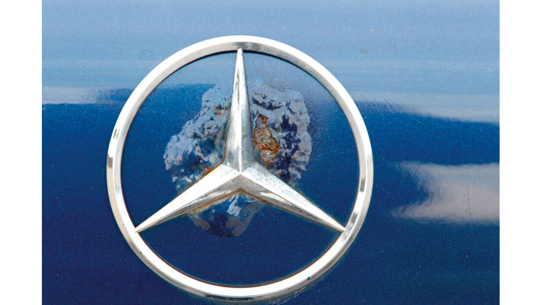 Mercedes E 420, Stern, Rost