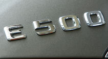 Mercedes E 500 Cabriolet Schriftzug