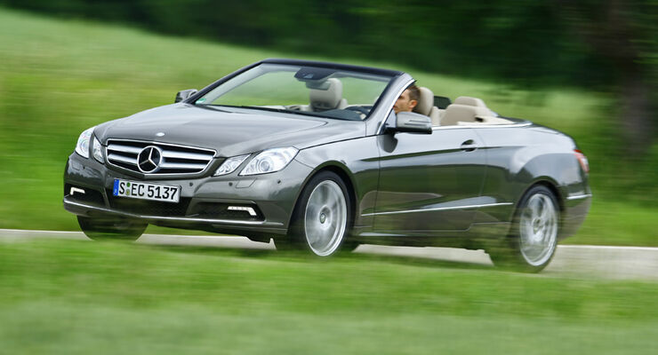 mercedes e 500 cabriolet im test cabrio auf dynamischen. Black Bedroom Furniture Sets. Home Design Ideas