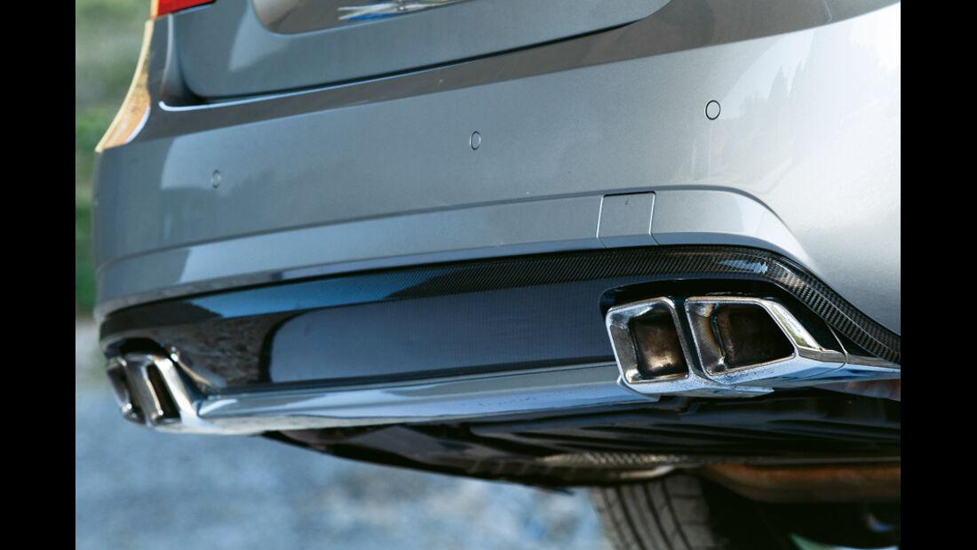 Mercedes E 63 AMG, Auspuff