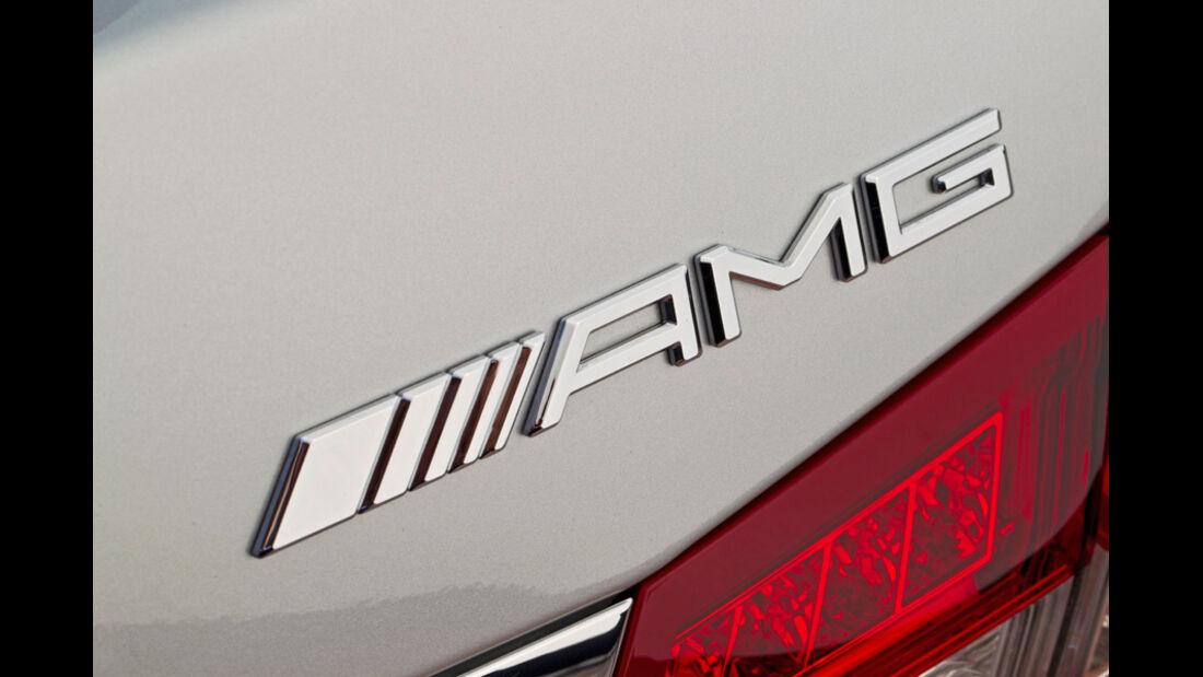Mercedes E 63 AMG, Emblem, Typenbezeichnung