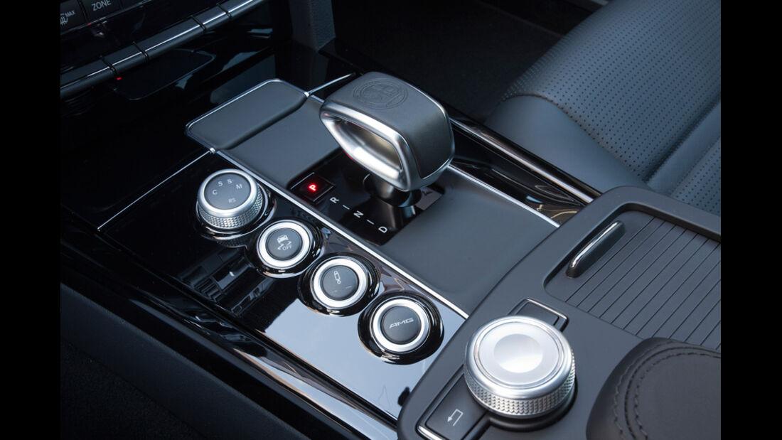 Mercedes E 63 AMG, Mittelkonsole, Bedienelemente
