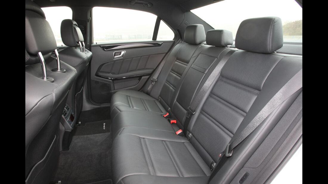 Mercedes E 63 AMG, Rücksitz