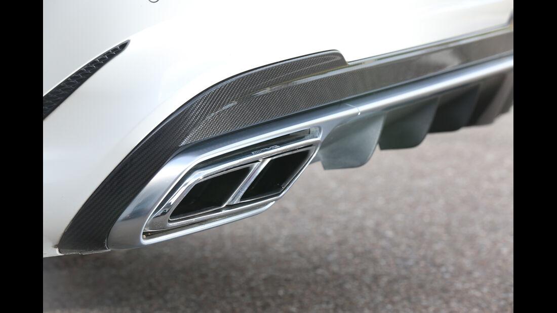 Mercedes E 63 AMG S, Auspuff, Endrohr
