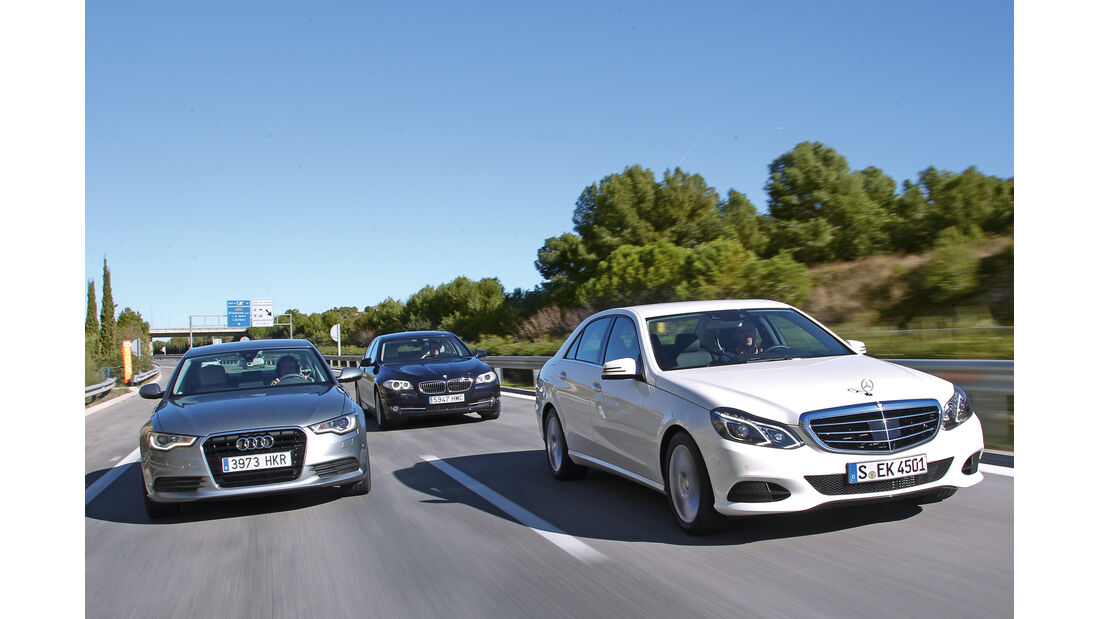 Mercedes E-Klasse, Audi A6, BMW Fünfer, Frontansicht