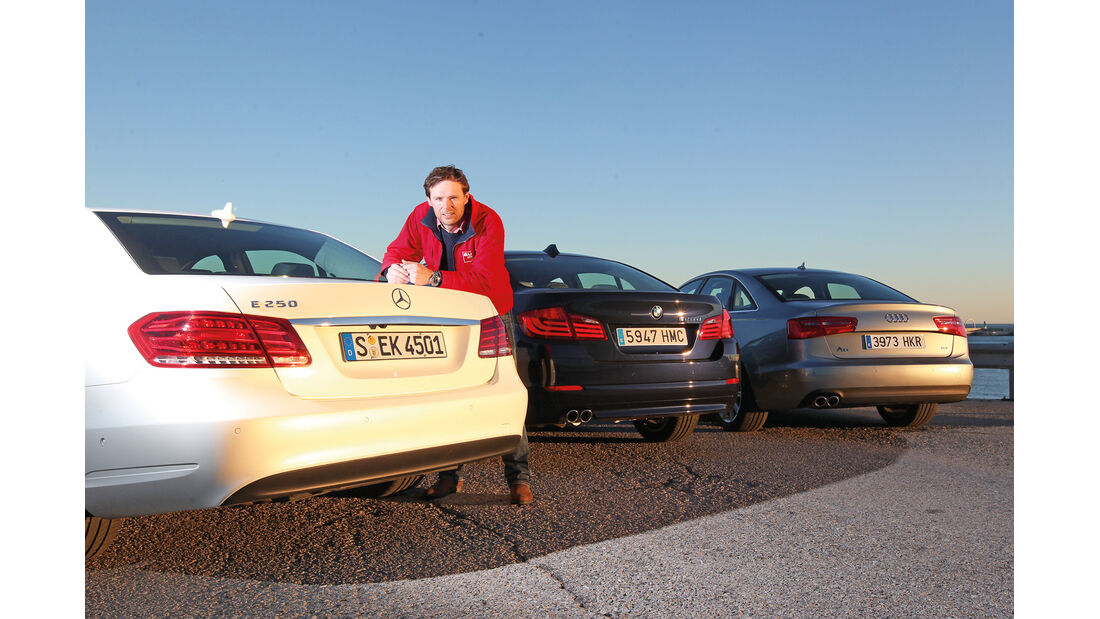 Mercedes E-Klasse, Audi A6, BMW Fünfer, Heckansicht