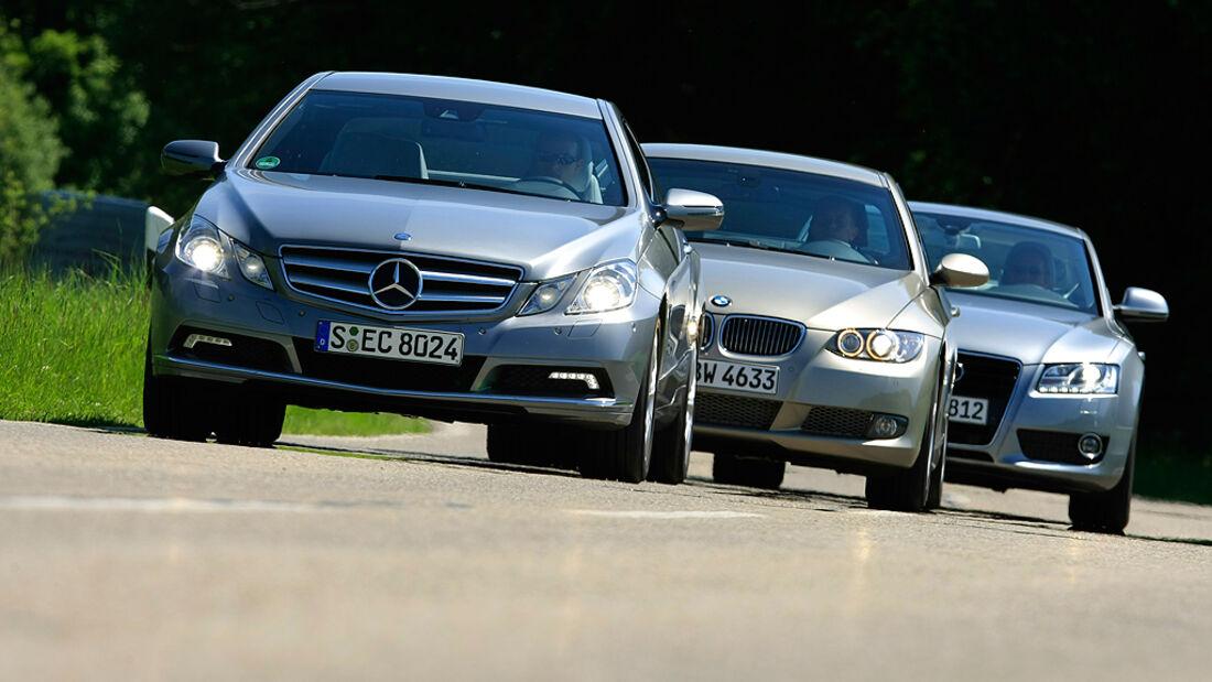 Mercedes E-Klasse, BMW 335i, Audi A5