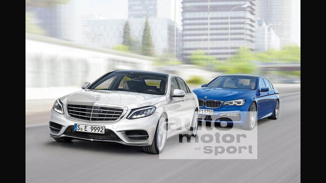Mercedes E-Klasse,  BMW Fünfer