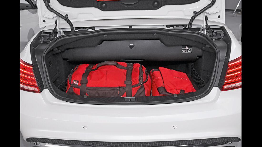 Mercedes E-Klasse Cabrio, Kofferraum