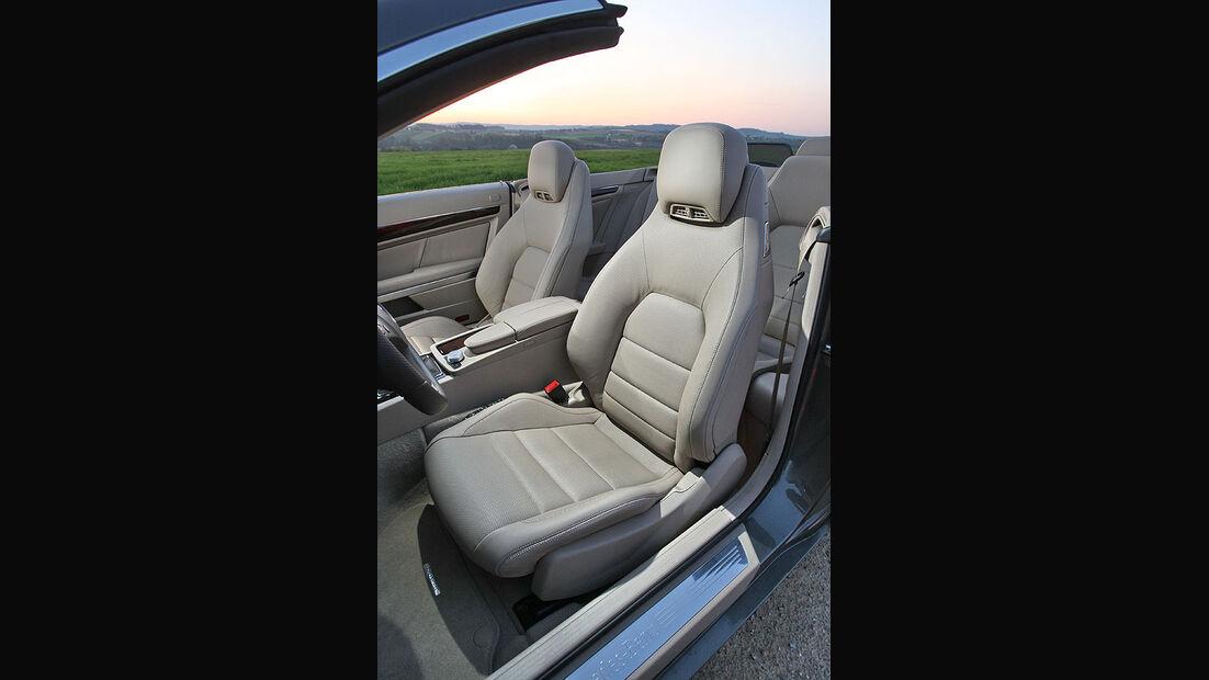 Mercedes E-Klasse E 220 CDI Cabrio Fahrersitz