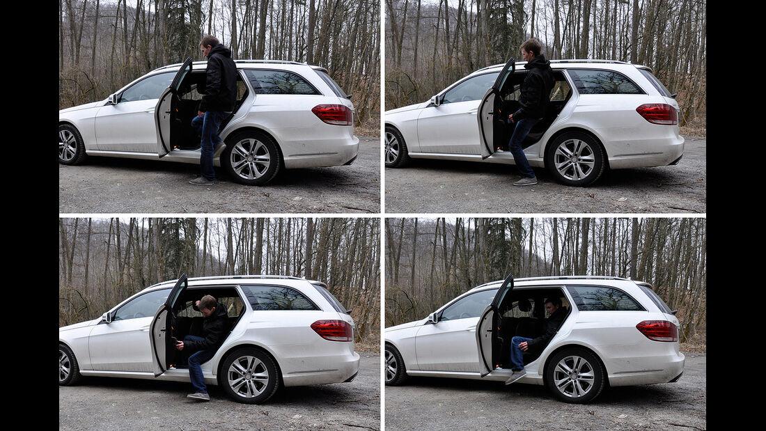 Mercedes E-Klasse, Einstieg, Fond