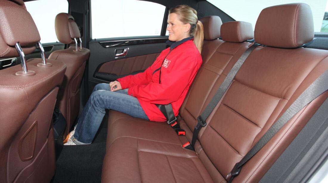 Mercedes E-Klasse, Fond, Rückbank