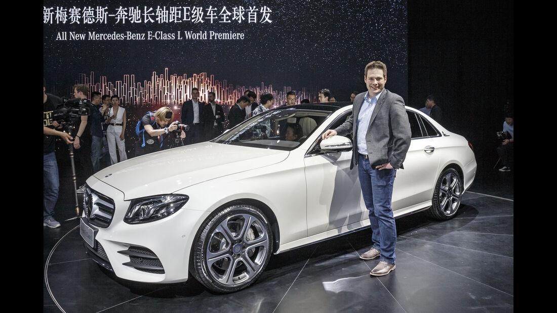Mercedes E-Klasse Lang Sitzprobe Peking 2016