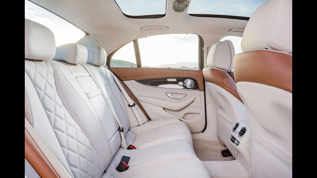 Mercedes E-Klasse (W213) - E 350 e - Plug-In-Hybrid - Innenraum - Rücksitze - Vorstellung