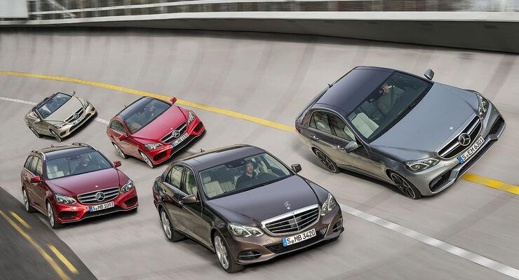 Mercedes E-Klasse facelift Gruppenbild