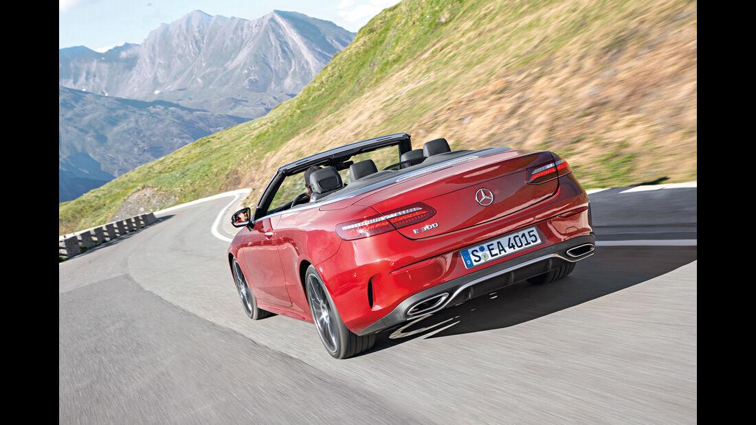 Mercedes E300 Cabriolet, Heck