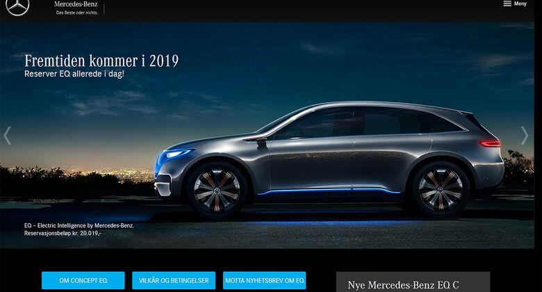 Mercedes EQ C Reservierung Norwegen