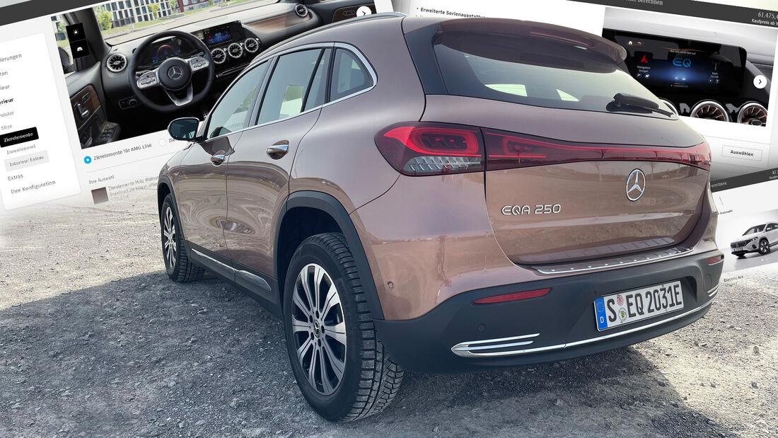 Mercedes EQA Elektro-SUV Konfigurator 2021
