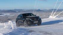 Mercedes EQC Schnee Eis Winter Drift Elektroauto