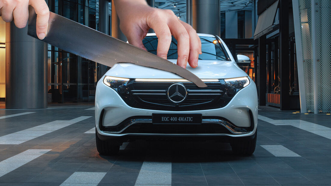 Mercedes EQC Schnittmodell Aufmacher Collage
