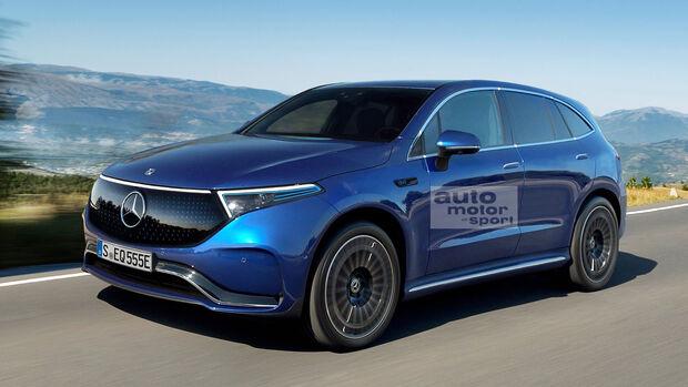 Mercedes EQE SUV Retusche