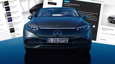 Mercedes EQS Basismodell 450+ Konfigurator Serienausstattung