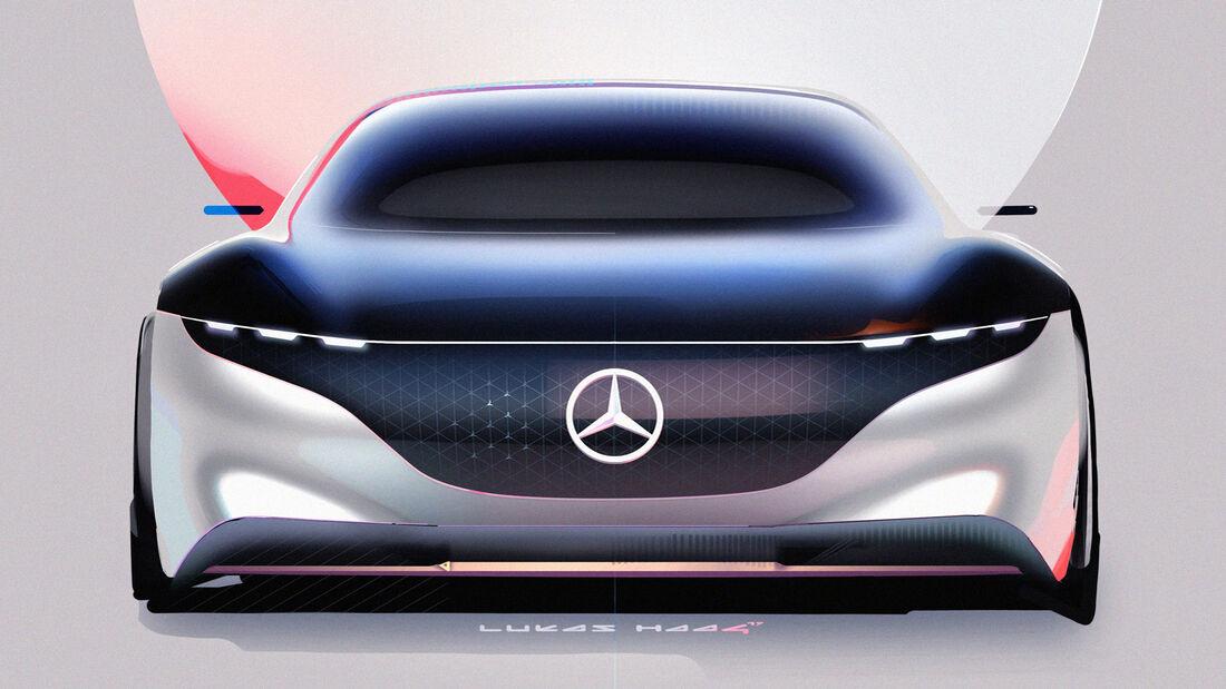 Mercedes EQS Hyperscreen MBUX